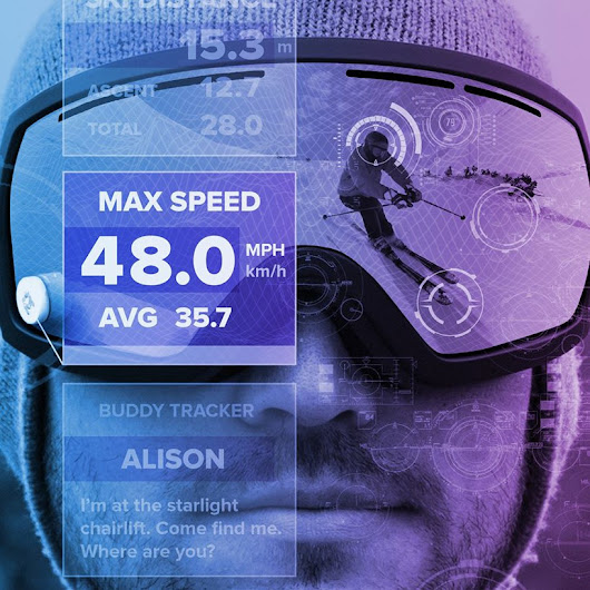 gogglepal brings universal heads-up display to snow goggles