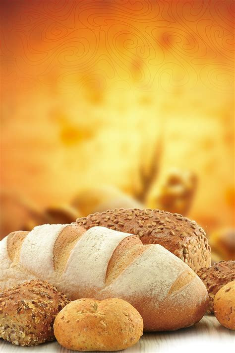Cake Bread Poster Background Material, Cake, Bakery