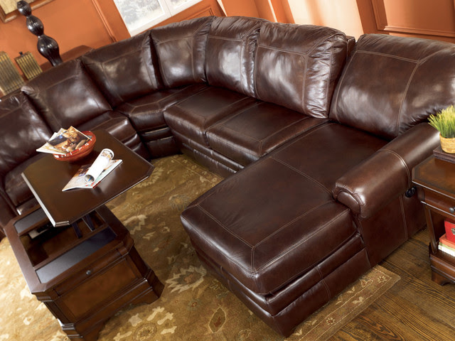 Merrion - Mahogany Sectional by Ashley Furniture - - sectional ...