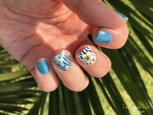Nail Art Stamping Yours Cosmetics - Tropical Vibes - Le Blog de Lilie