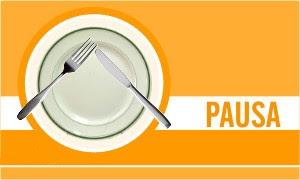 Posición de los cubiertos/servicios en pausa
