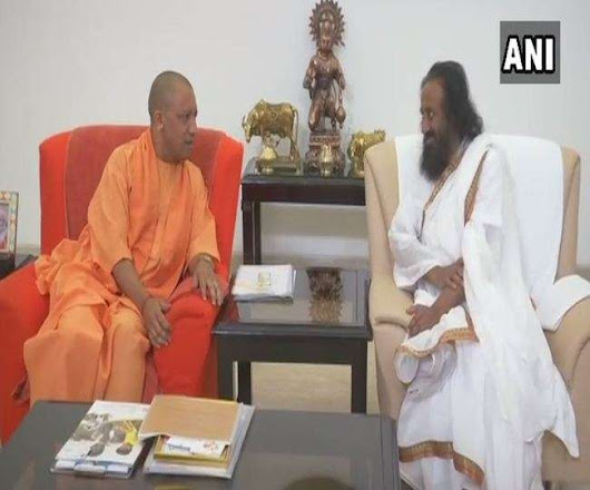 Shri shri Ravi shanker meets CM Yogi Adityanath on Ram temple issue 17036608