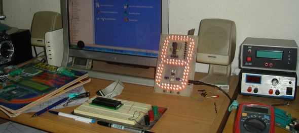 màn hình-test-PCB-đèn LED 7-segment-LED-