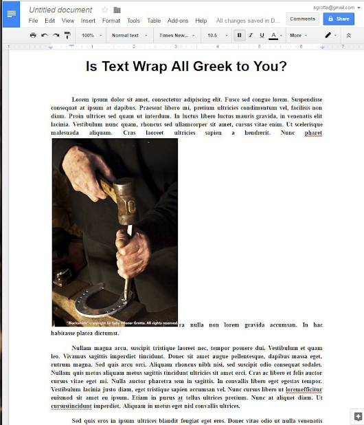 Wrap Text Around a Photo in Google Docs (Without Ripping Your Hair Out)