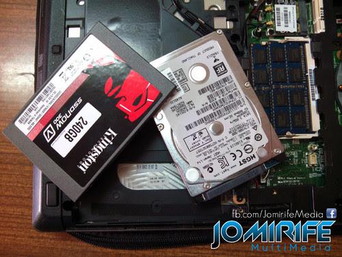 Trocar disco HDD por SSD Kingston 240GB com backup dos dados do disco rígido antigo [en] Exchange the HDD for SSD Kingston 240GB with backup data from old hard drive