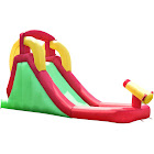 Gymax Inflatable Moonwalk Water Slide Bounce House Bouncer Kids Jumper Climbing