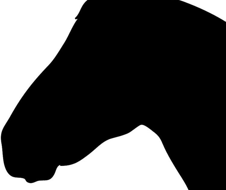pferdekopf schablone pdf
