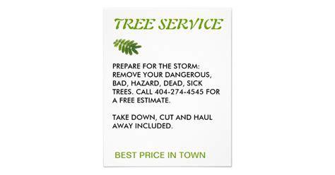 tree service flyer   Zazzle.com
