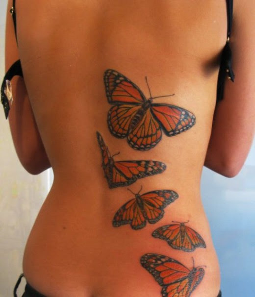 butterfly 3d tattoo  designs