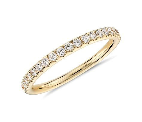 Riviera Pavé Diamond Ring in 18k Yellow Gold (1/4 ct. tw