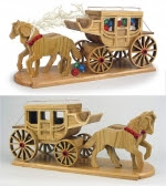 Stagecoach Woodworking Plan - fee plans from WoodworkersWorkshop® Online Store - stagecoaches,wild westerns,horses,cowboys,scrollsawing,full sized patterns,woodworking plans,woodworkers projects,blueprints,drawings,blueprints,how-to-build,MeiselWoodHobby