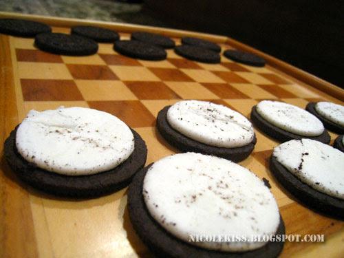 oreo checkers close up