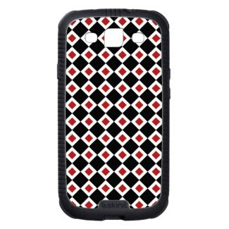 Black, White, Red Diamond Pattern Samsung Galaxy S3 Cases