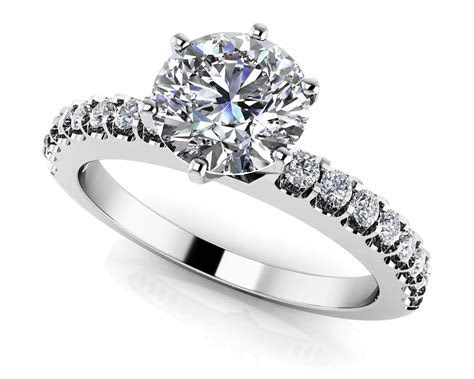 Brilliant Round and Princess Cut Engagement Ring   Roco's