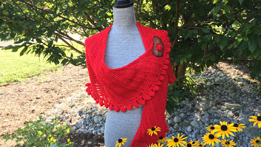 Crochet Slice of Nice Shawl + Tutorial - The Crochet Crowd