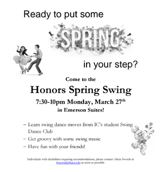 IC Honors: LIVE JAZZ at tonight's Spring Swing!