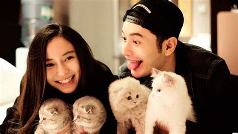 Angelababy and Huang Xiaoming celebrate wedding