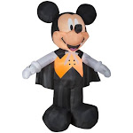 Gemmy G08 73955X Disney Mickey Vampire in Orange Vest - Multicolor