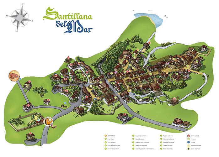 Santillana Del Mar Mapa.Santillana Del Mar Mapa Mapa