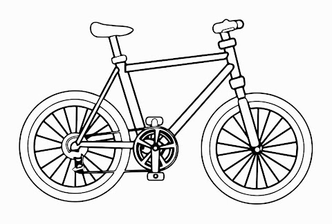 Awesome Bike Coloring Pages