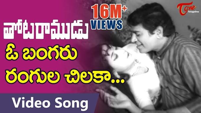 O Bangaru Rangula Chilaka Song Lyrics In Telugu | ఓ బంగరు రంగుల చిలక సాంగ్ లిరిస్క్ ఇన్ తెలుగు