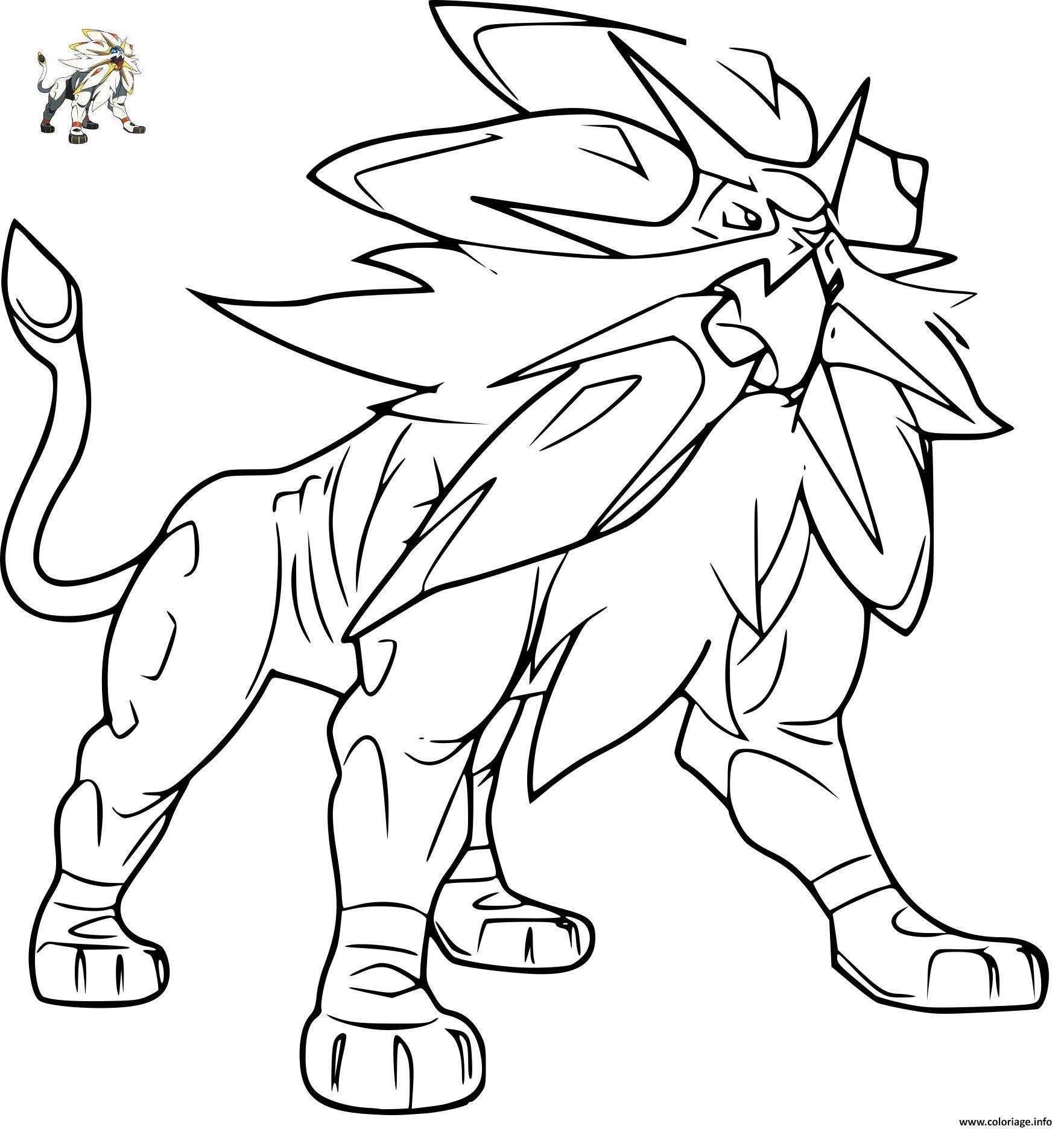 Coloriage Pokemon Solgaleo Gx Jecoloriecom