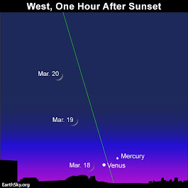 Moon, Mercury, Venus March 18 to 20 | EarthSky.org