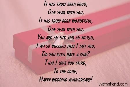 First Anniversary Poems