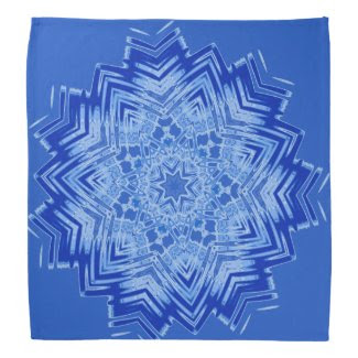 Blue Mandala Design on Bandana