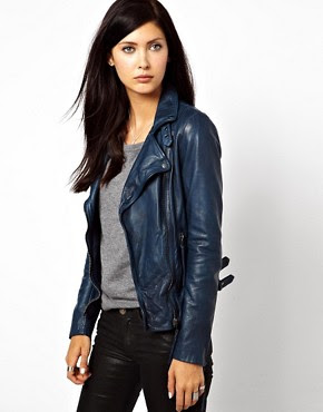 Image 1 ofMuuBaa Reval Lambs Leather Jacket with Buckle Detail on Neck and Hem