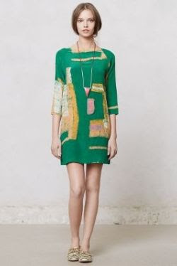 Anthropologie Linter Dress