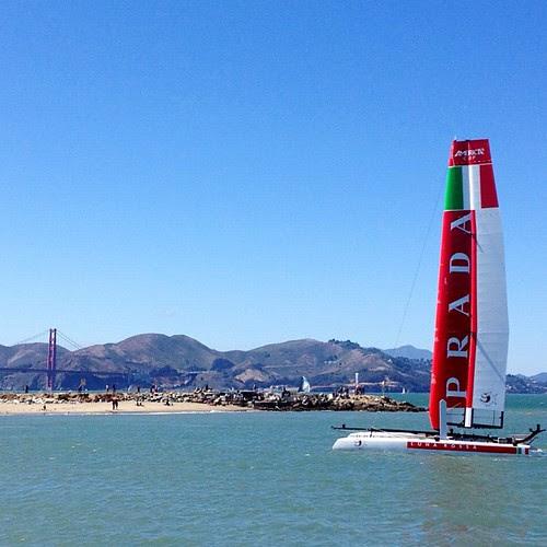 Prada Italian #americascup boat. #goldengate #bridge