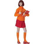 Scooby-Doo Velma Adult Costume - 667 - Orange - Standard One-Size