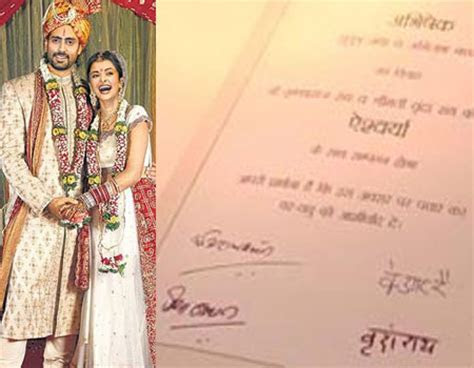 Best Wedding Cards of Bollywood Celebrity   Wedding