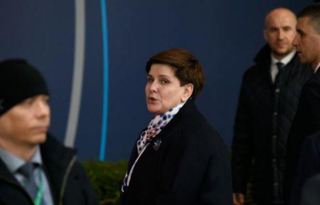 La Première ministre Beata Szydlole 17 mars 2016 à Bruxelles
