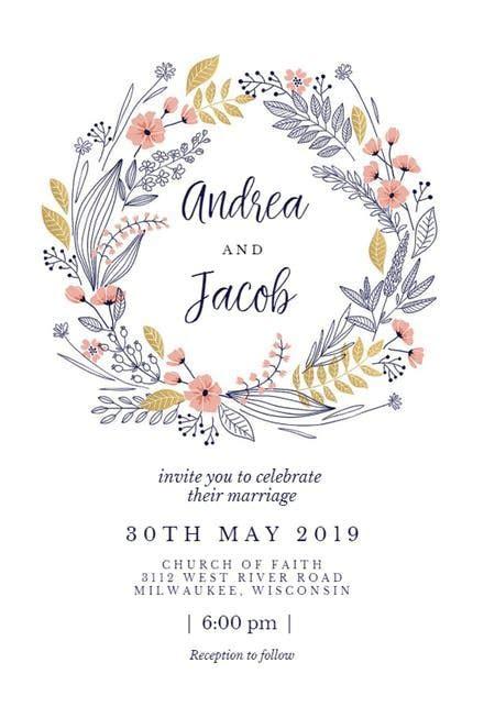Wedding Invitation Templates (Free)   Greetings Island