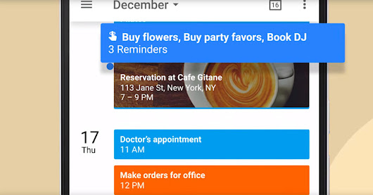 Google Calendar gets reminders to keep track of your tasks