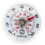 """Comark UTL140 Indoor/Outdoor Stick-On Magnetic Thermometer - -40 - 140 degrees F - 2"""" Dial"""