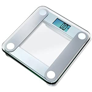 "EatSmart™ Precision Digital Bathroom Scale w/ Extra Large Backlit 3.5"" Display and ""Step-On"" Technology"