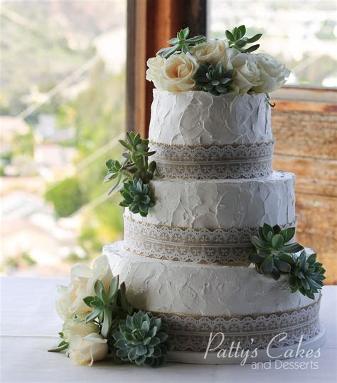 Photo of a simple rustic wedding cake   Patty's Cakes and