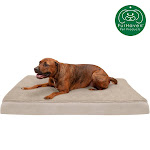 FurHaven Pet Dog Bed   Deluxe Cooling Gel Memory Foam Orthopedic Terry & Suede Mattress Pet Bed For Dogs & Cats (Clay, Jumbo)