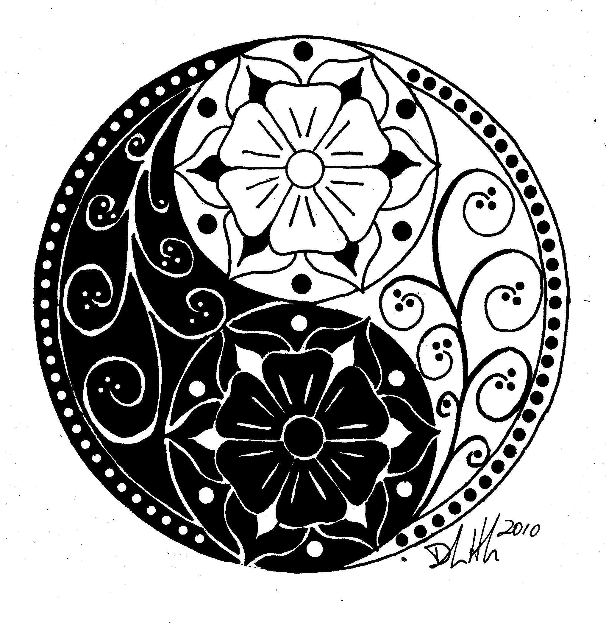 Yin Yang Symbol Drawing At Getdrawingscom Free For Personal Use