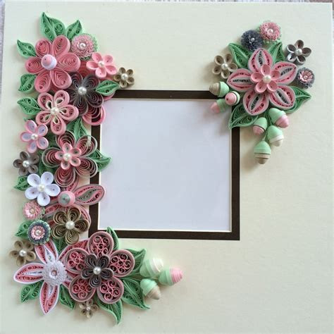 Quilled pink flowers for shadow box frame   Quilling