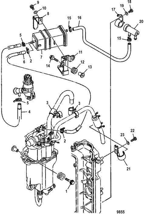 Mercury Marine 90 HP EFI (4-Stroke) Fuel Hose Routings Parts