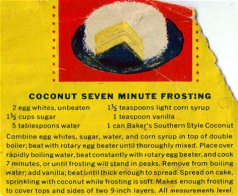 coconut  minute frosting recipe recipecuriocom