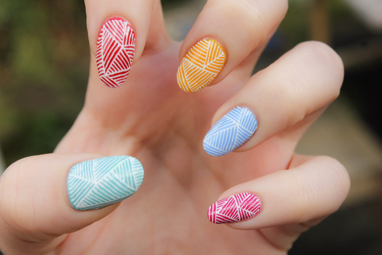 Colorful Line Nails Pictures, Photos, and Images for ...