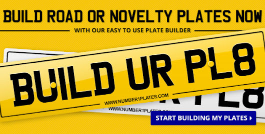 Road Legal Number Plate Makers | Custom Number Plates | Make Your Own Plate - Number 1 Plates