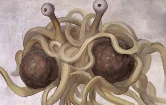 Flying Spaghetti Monster spotted off Angolan coast