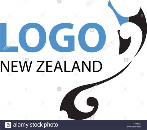 vector  zealand map  koru logo design isolated