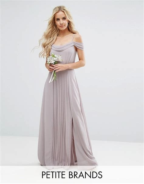 TFNC Petite Wedding Cold Shoulder Embellished Maxi Dress